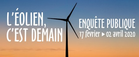 """Avis d'enquête publique - Projets de """"Plan d'exploitation des éoliennes"""" et de """"Plan relatif à l'acoustique des éoliennes"""""""