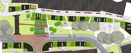 Projet d'aménagement de la place du Centenaire à Habay-la-Vieille