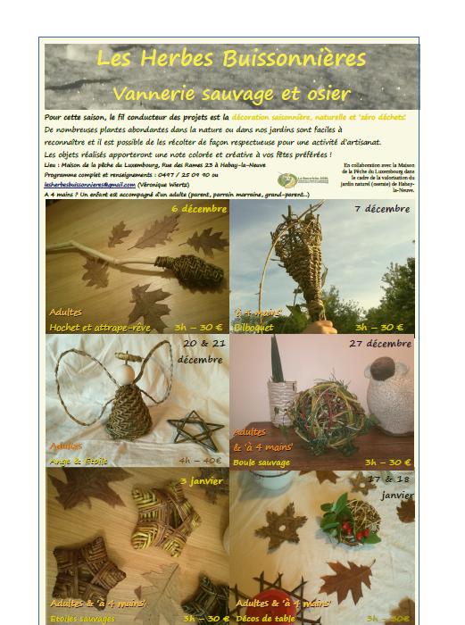 Affiche vannerie sauvage et osier