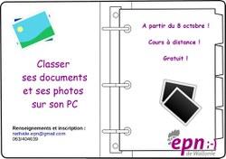 """Atelier en ligne """"Classer ses documents et photos"""""""