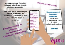 FORMATION INDIVIDUALISEE TABLETTE/SMARTPHONE