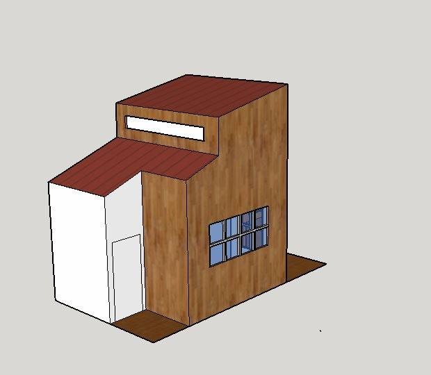 Modélisation de la cabane presque terminée